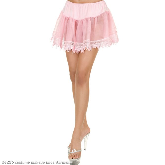 Pink Tear Drop Petticoat Adult