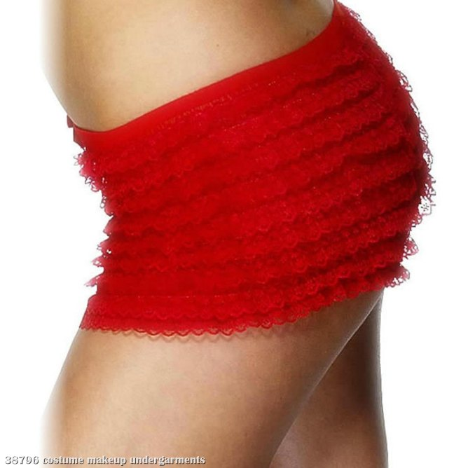 Ruffle Lace Red Panties Adult