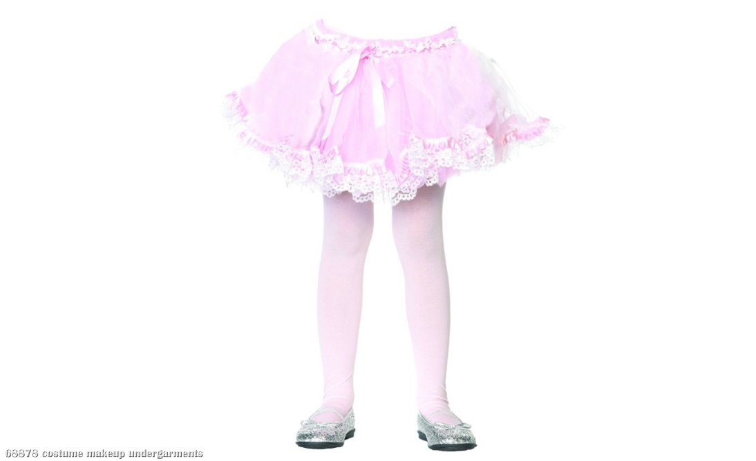 Lace Trimmed (Light Pink) Child Petticoat