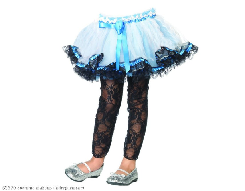 Lace Trimmed (Blue) Child Petticoat