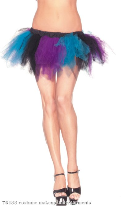 Black, Blue & Purple Adult Petticoat
