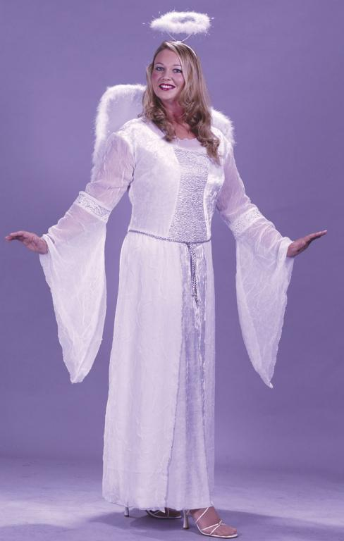 Heavenly Angel White Plus Size Adult Costume