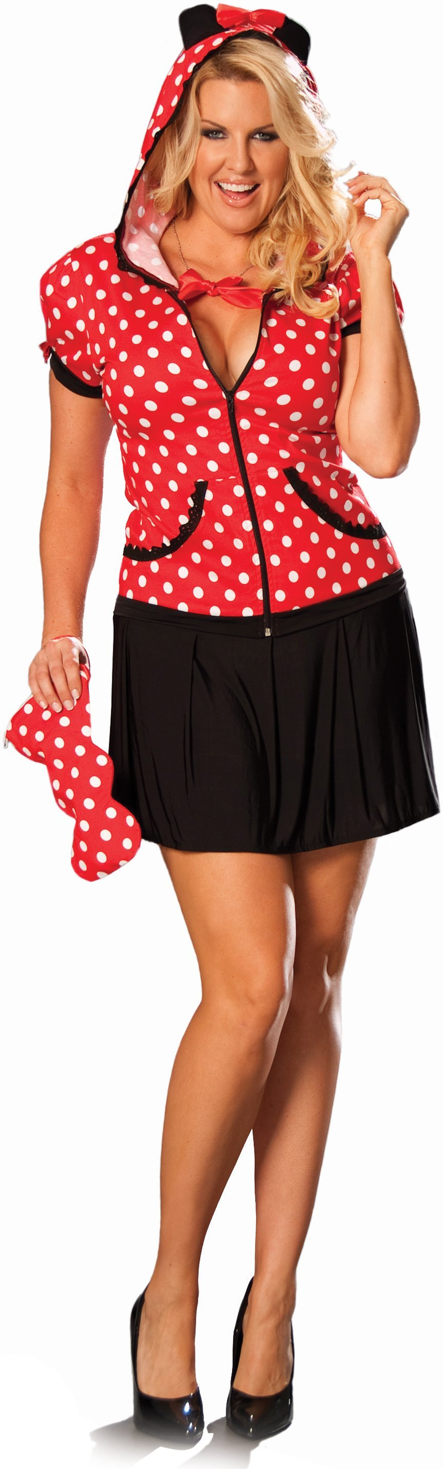Miss Mouse Plus Adult Costume