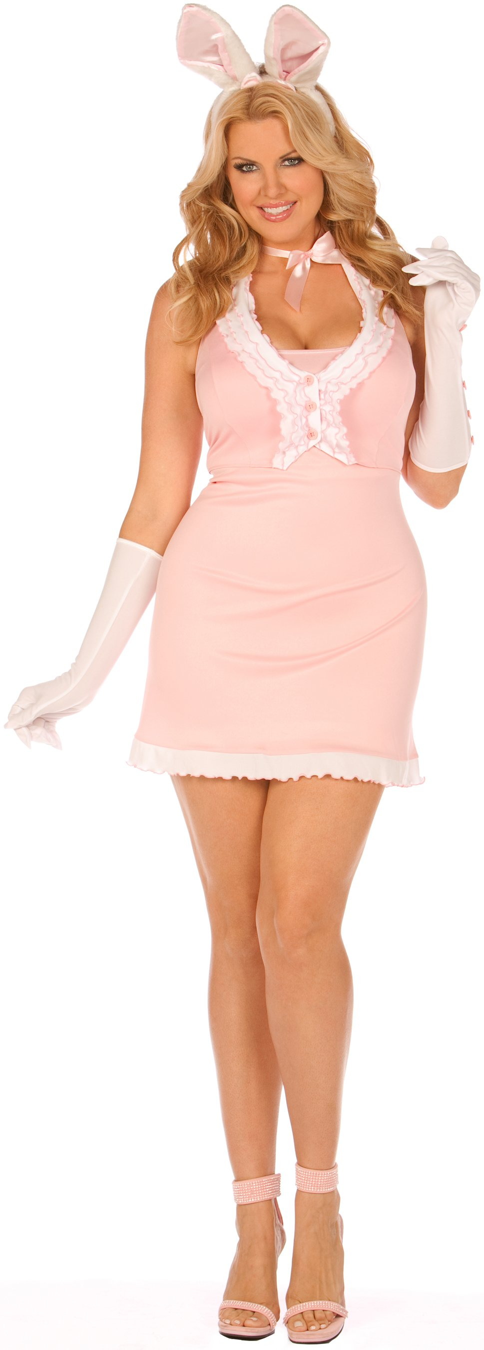 Playtime Bunny Plus Adult Costume