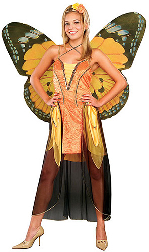 Orange Adult Butterfly Costume