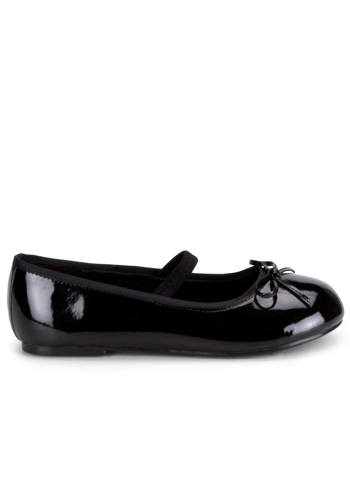 Girls Black Patent Shoes