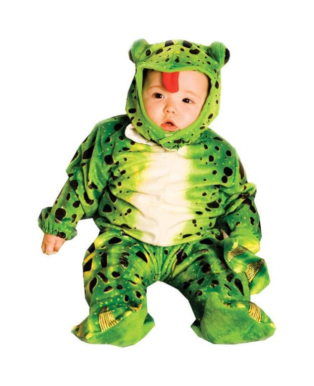 Plush Green Frog Infant and Toddler Costume