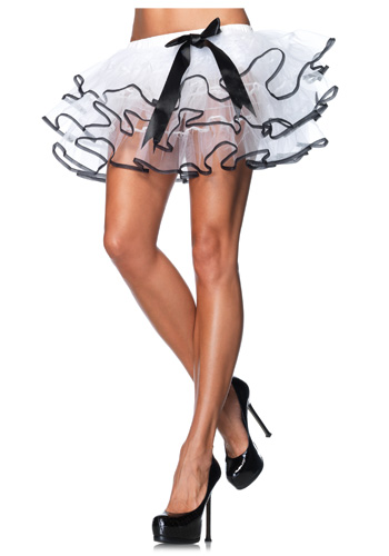 Black and White Tulle Petticoat