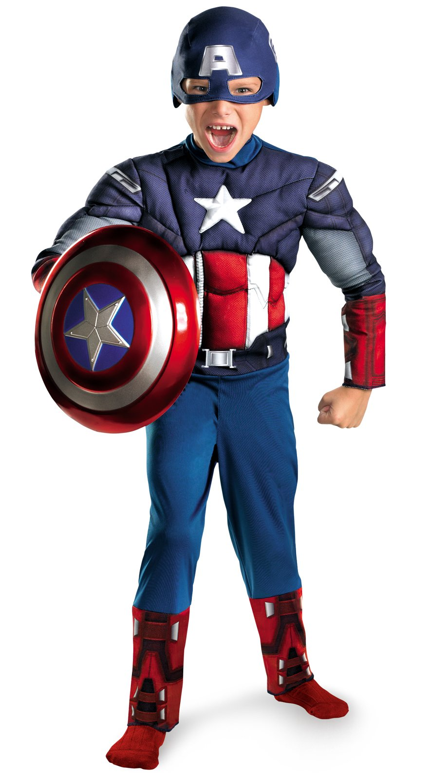 The Avengers Captain America Classic Muscle Chest Toddler Costum