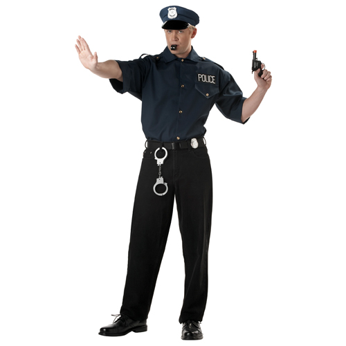 Cop Shirt and Hat Police Set