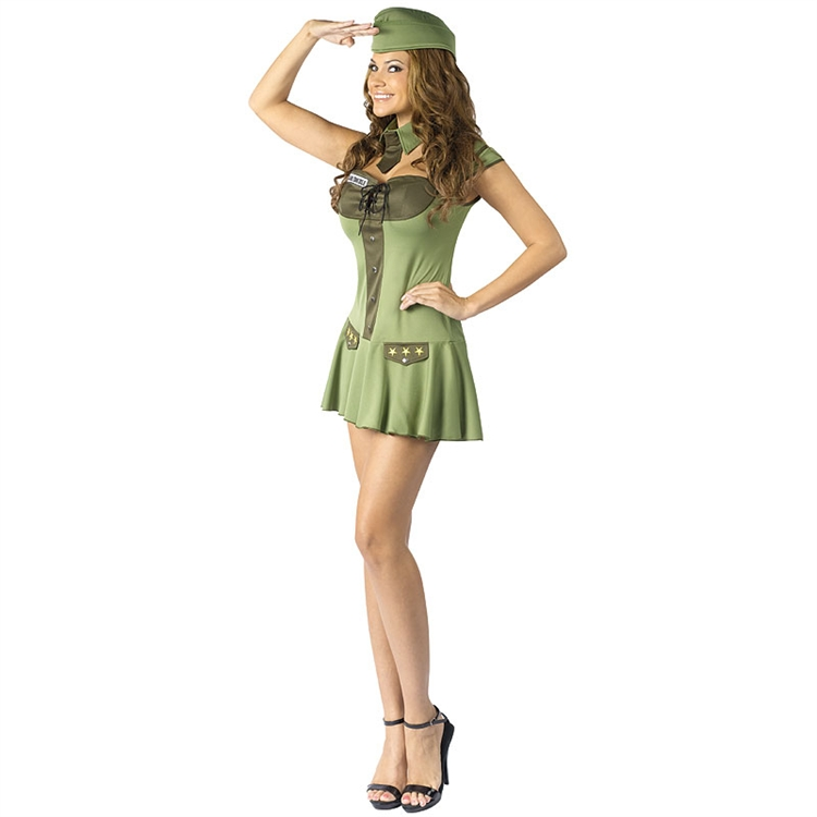 Sexy Major Trouble Military Costume