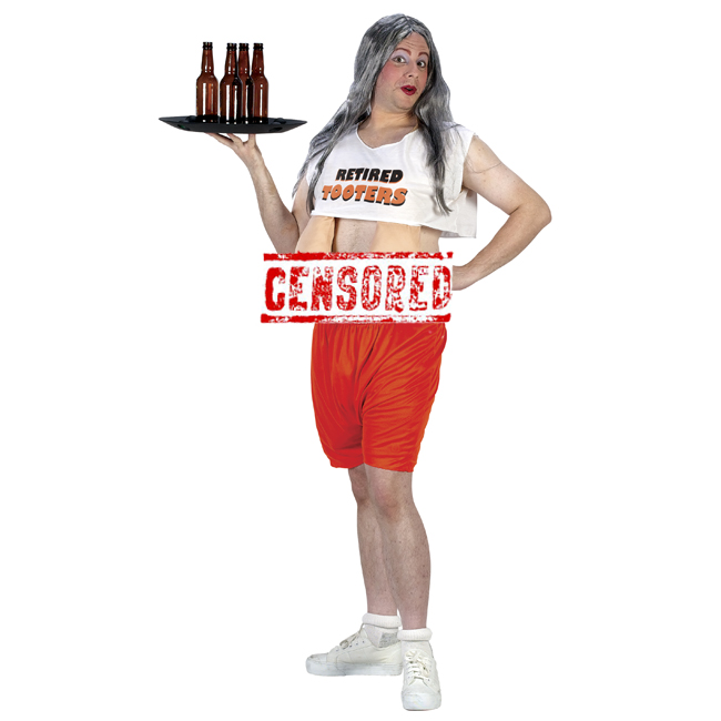 Retired Tooters Hooters Girl Funny Adult Costume