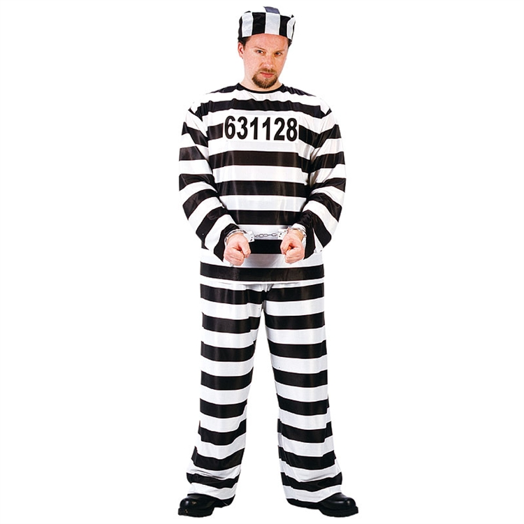 Adult Man Convict Costume