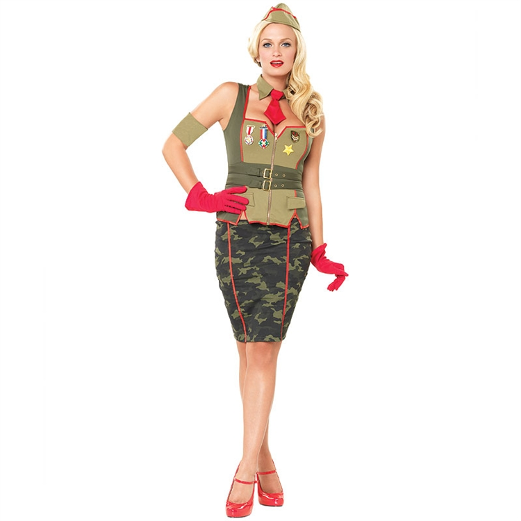 Military Pin Up Adult Costume