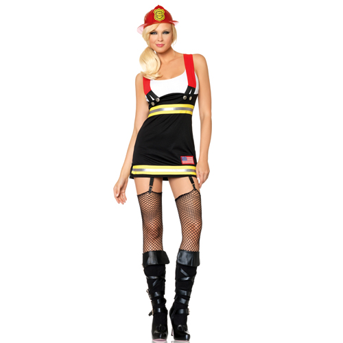 Sexy Backdraft Babe Fire Woman Costume