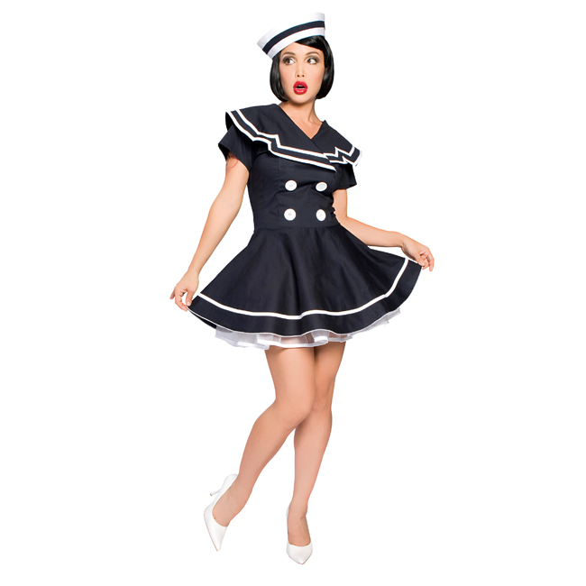 Sexy Pin-Up Captain Adult Costume