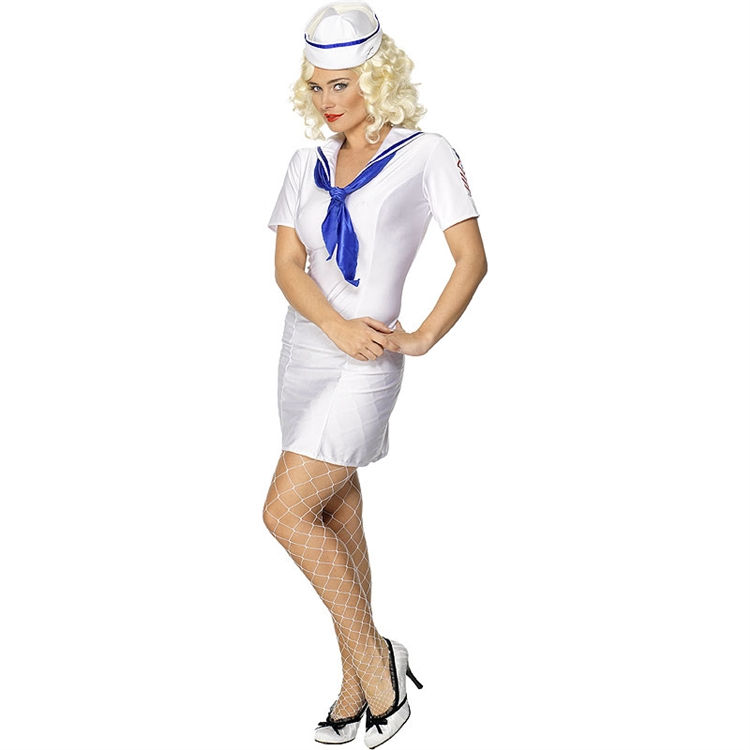 Female Fever Pin-Up Ship's Mate Costume