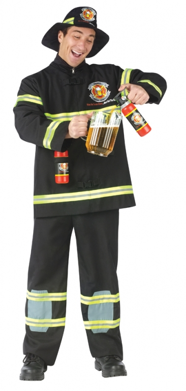 Fill Er Up Fireman Adult Costume