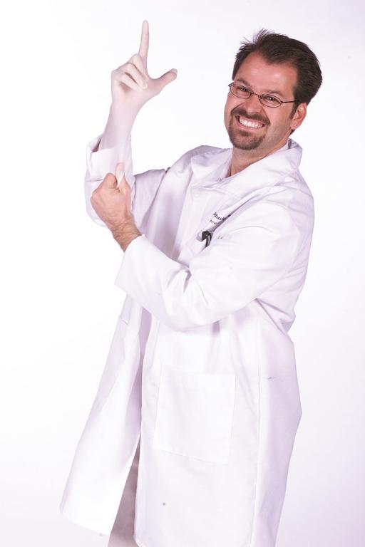 Lab Coat Harry Fingerman Adult Costume