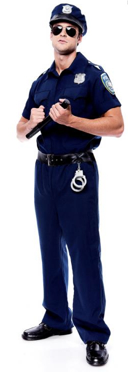 Police Officer Adult Costume Small