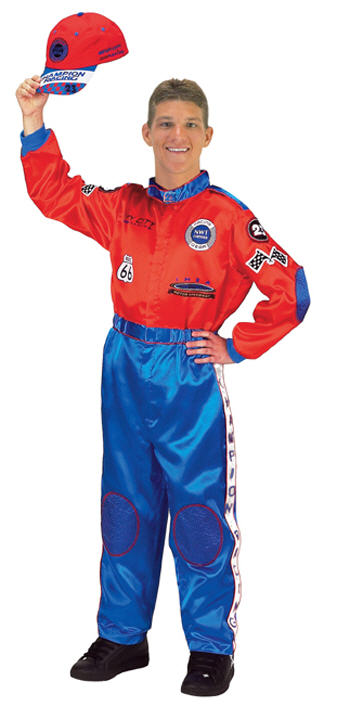 Racing Suit Adult Red Blue