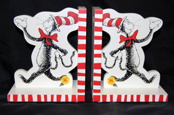 Cat In The Hat: Dr. Seuss Bookends