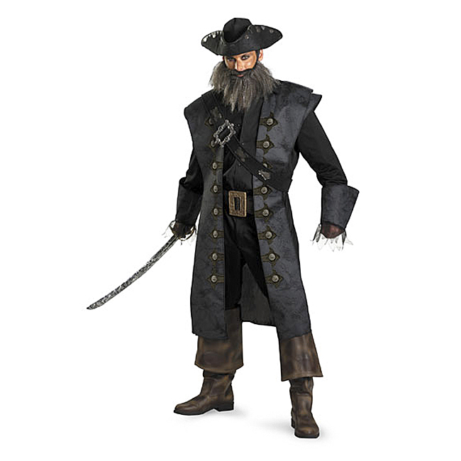 Blackbeard Pirate Deluxe Adult Costume