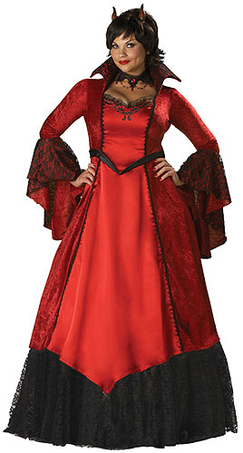 Elite Womens Plus Size Devil Costume
