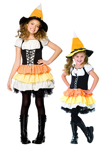 X-Small Kids Candy Corn Witch Costume