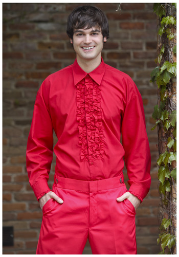 Red ruffled tuxedo shirt costumes life for Red ruffled tuxedo shirt