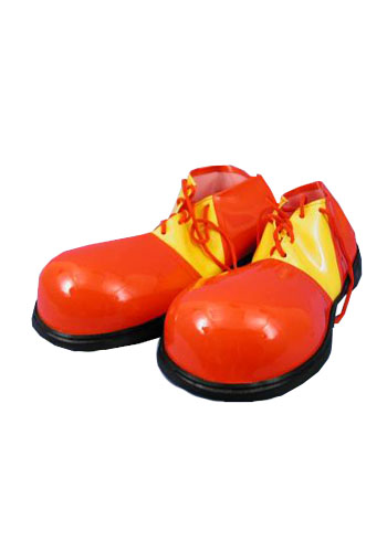 Red and Yellow Clown Shoes Circus Costume