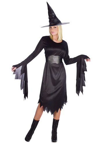 Womens Tattered Witch Costume