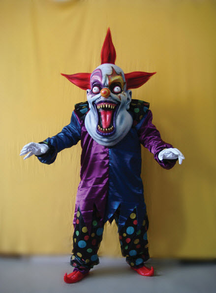 Oversized Evil Clown Red and Blue
