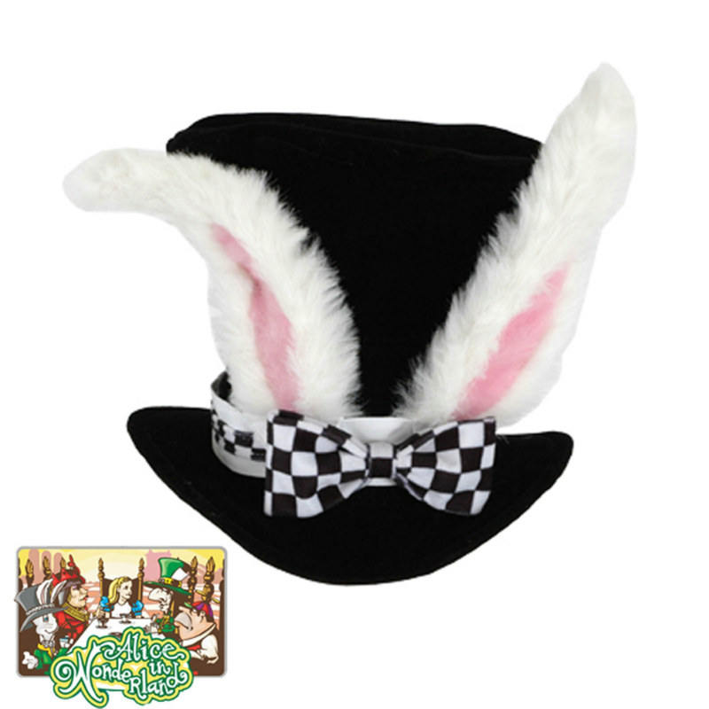 Alice In Wonderland - Classic White Rabbit Hat - Click Image to Close