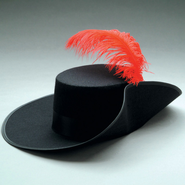 Musketeer Hat With Feather Adult