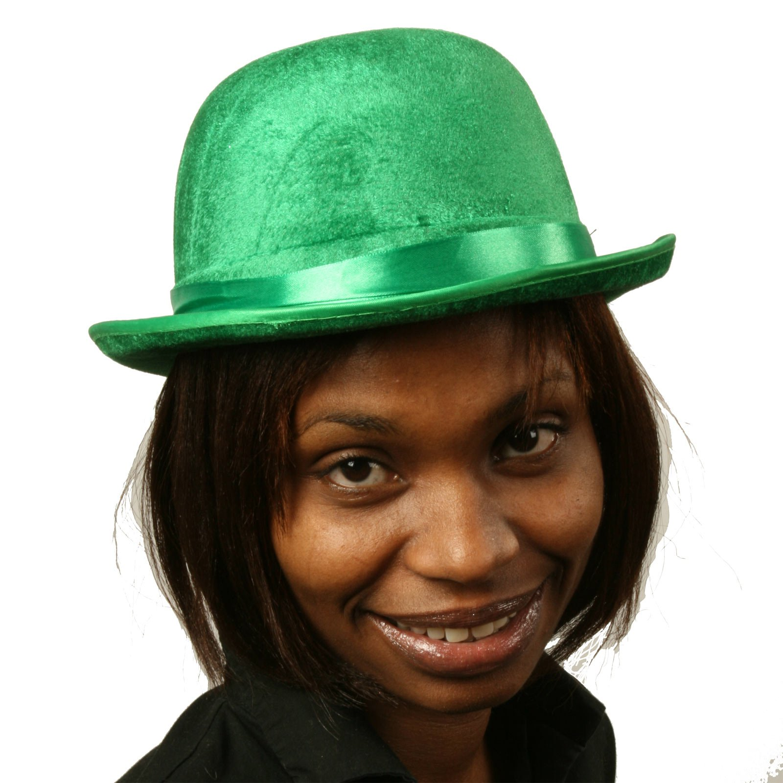Green Felt Derby Hat