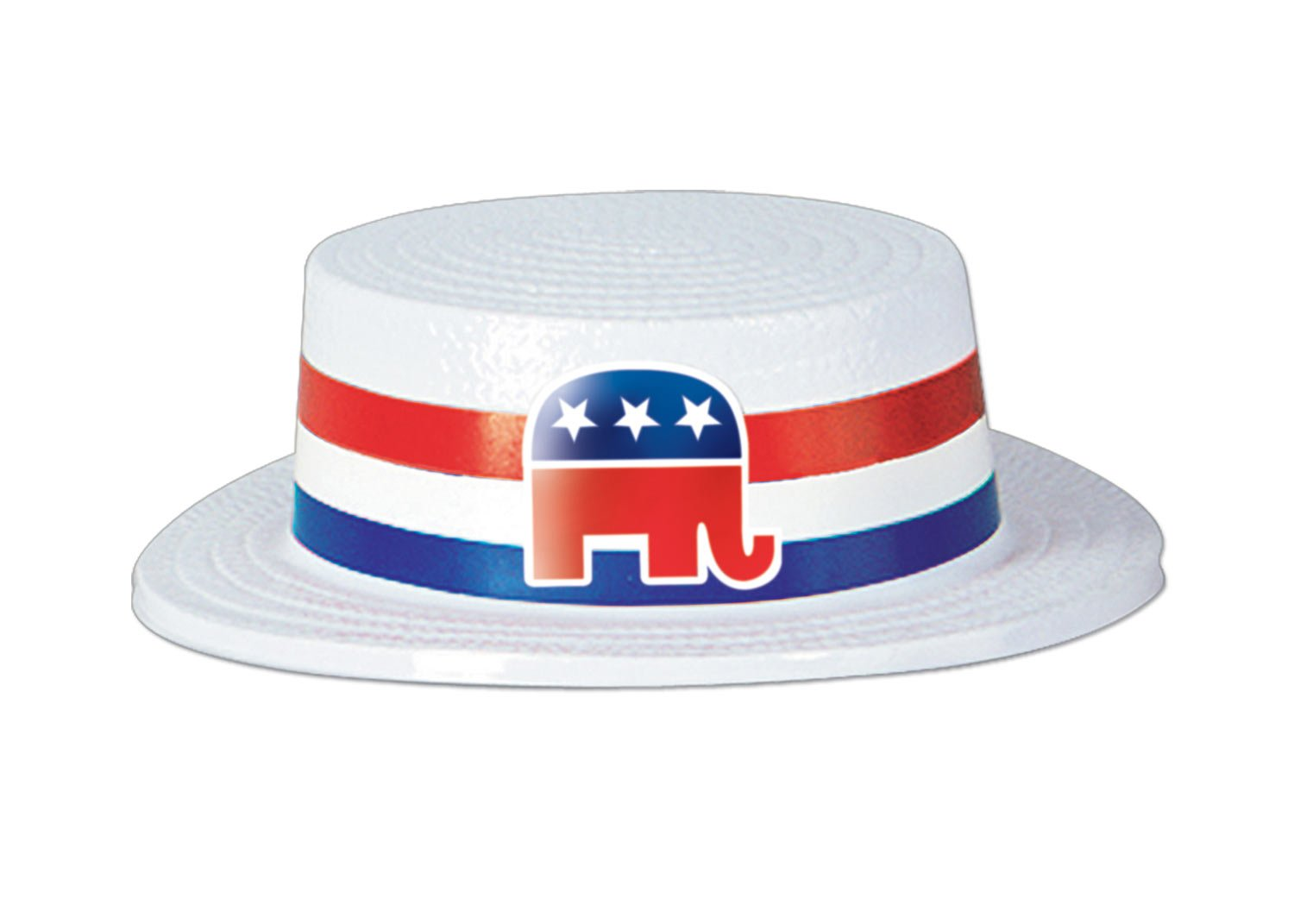 Skimmer Hat with Republican Elephant Band
