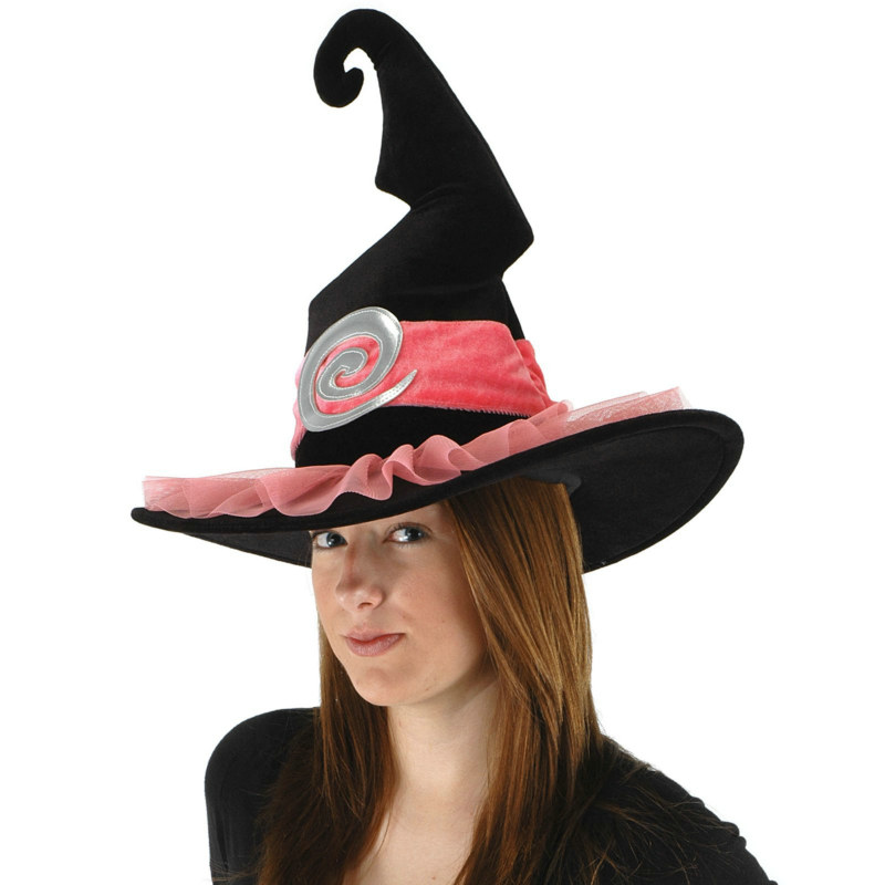 Pink Spiral Witch Hat Adult
