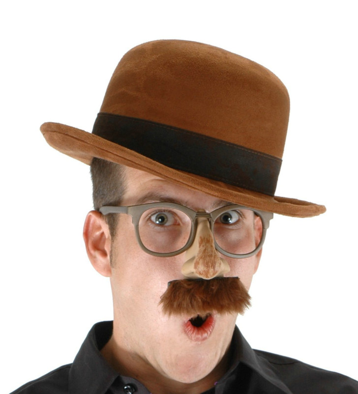 Adult Bowler Brown Hat