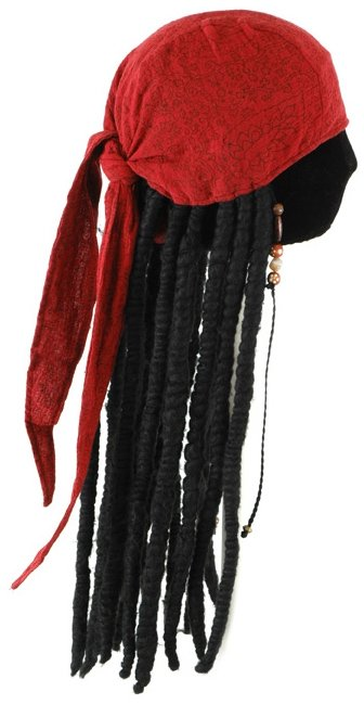 Jack Sparrow Adult Scarf with Dreads