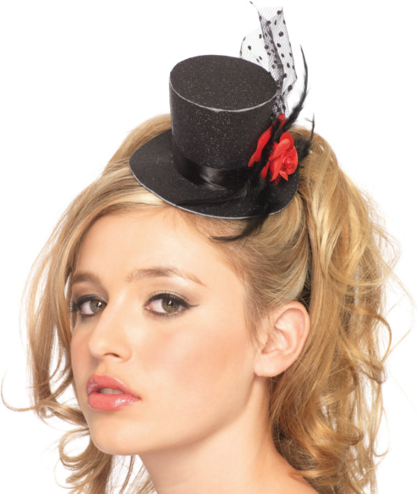 Mini Top hat With Rose Adult