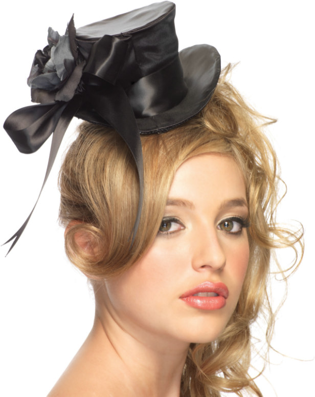 Satin Top Hat Adult Black