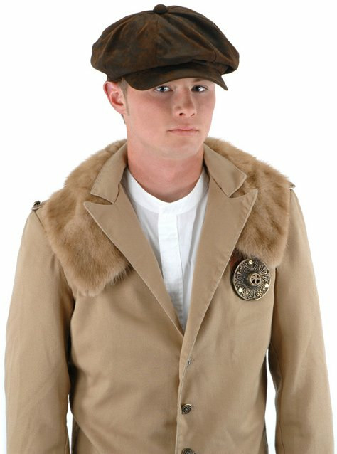 Steampunk Driver (Brown Suede) Hat Adult