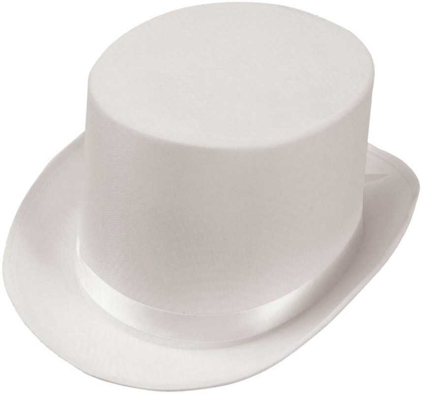 Satin (White) Adult Top Hat