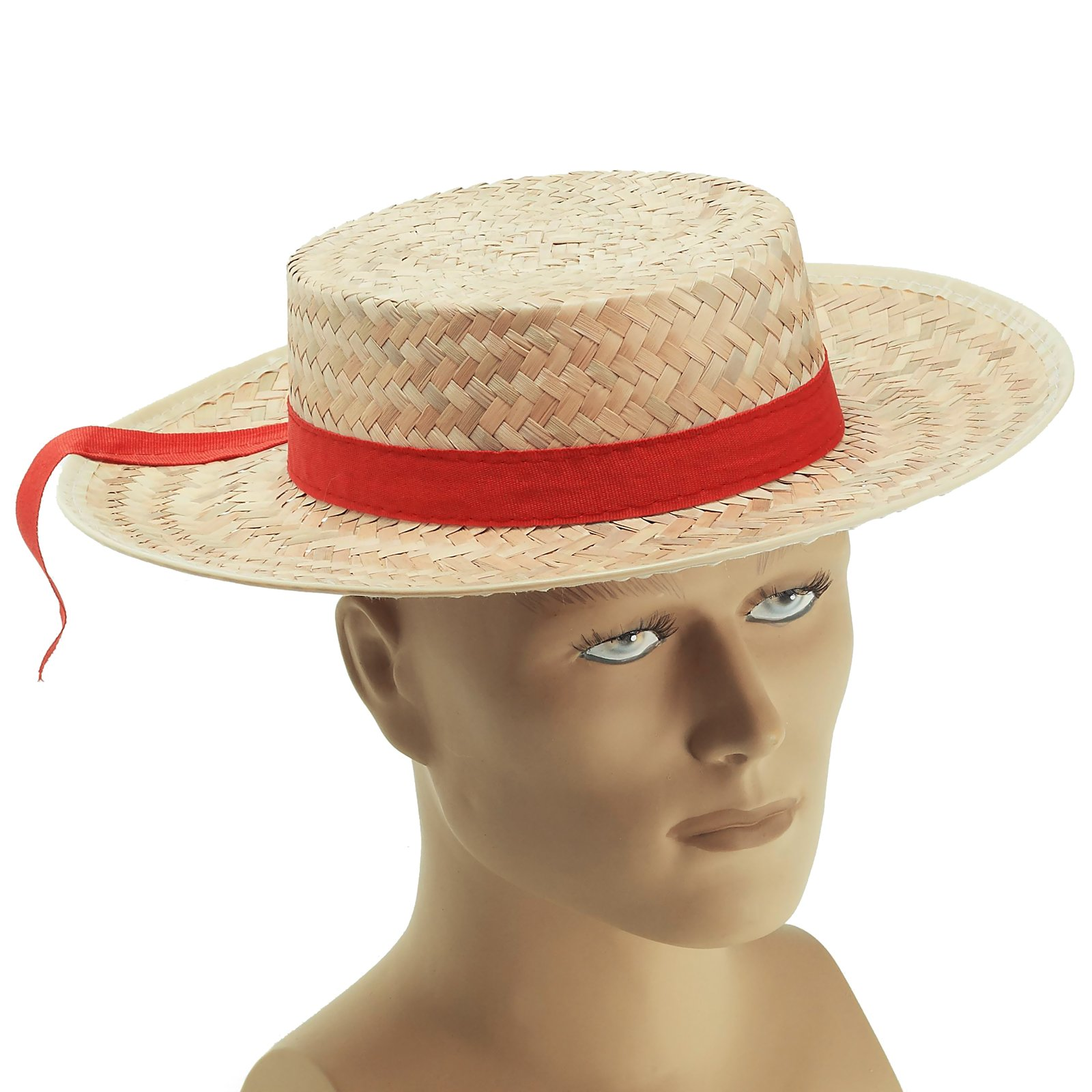 Straw Gondolier Hat (Adult)