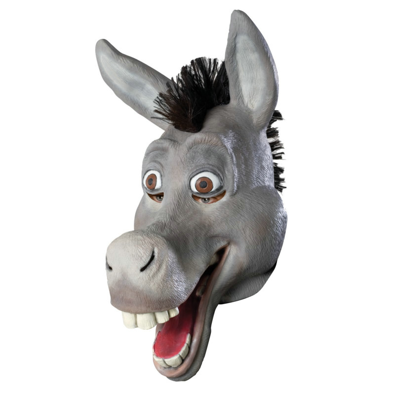 Shrek The Third Donkey Overhead Mask