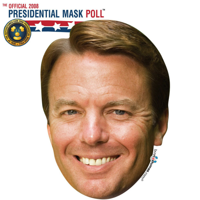 John Edwards Paper Mask