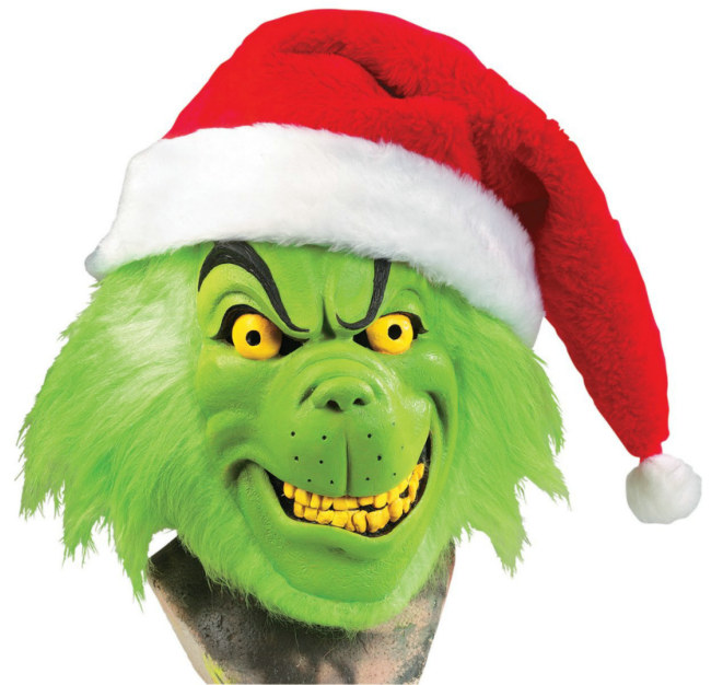 Grinch Deluxe Mask with Hat and Hair