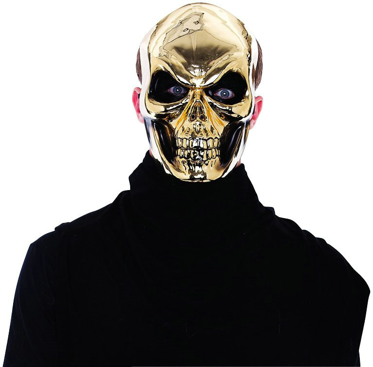 Gold Skull Mask Adult