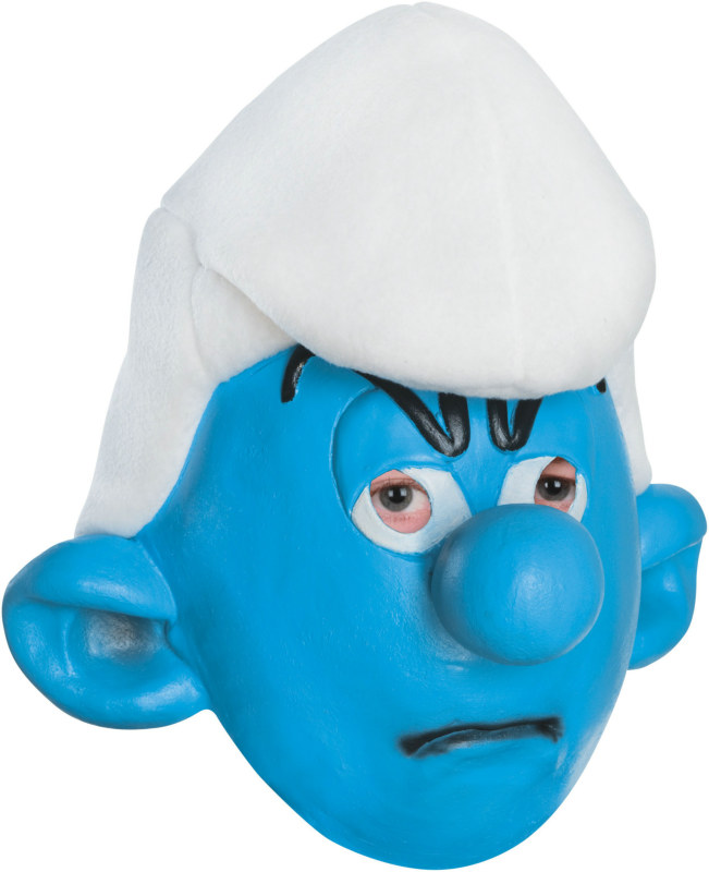 The Smurfs - Grouchy Smurf 3/4 Adult Mask